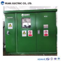 Quality Green color substation transformer with compact size for sale