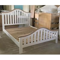 Quality Simple Modern Bedroom Furniture Curved Wooden Bed Frames With Headboard for sale