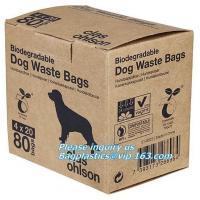 Quality Cornstarch 100% compostable biodegradable dog poop bags, Dispenser with recycle waste bag/compostable dog waste bags for sale