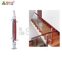 China Modern Stairs Safety Stainless Steel Wire Handrail Bracket Concrete Balusters Post on sale