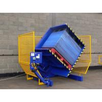 Quality Yellow And Blue Automatic Turnover Machine , 180 Degree Steel Coil Upender for sale