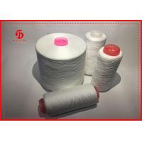 Quality Raw White Ring Spun Polyester Sewing Thread , High Tenacity Polyester Yarn for sale