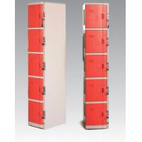 China ABS Material Coin Operated Lockers 5 Tier Red / Orange For Swimming Pool on sale