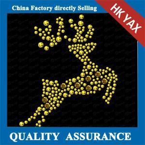 China Deer iron on rhinestone transfer,rhinestone iron on transfer,rhinestone iron on transfer designs on sale
