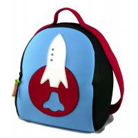 Quality Preschool Lunch Personalized Kids Backpacks for Toddlers Boy, Embroider Rocket for sale