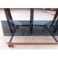 Coated Reflective Float Glass Flat Shape Black Reflective Glass For Furniture / Wall
