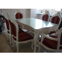 Quality White Wooden Dining Table And Chairs For Modern Dining Room Furniture Sets for sale