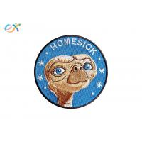 China Homesick 100% Custom Embroidered Logo Patches Round Shape For Clothes Accessories on sale