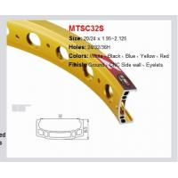 Quality MTSC32S Ground, CNC Side Wall, Eyelets Finish Aluminum Bicycle Wheel Yellow for sale