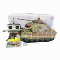 16 rc king tiger tank with smoke and sound functions and infrared