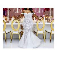 Quality Sexy Long Fishtail Mermaid Bridal Gowns Big Size / Summer Wedding Party Dresses for sale