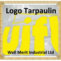 Quality White Color Logo Printed  Relief Tarpaulin  Outdoor Sheet Tarps with Logo Manufacture for sale