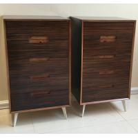 Buy cheap Five-drawer storage cabinet, wood structure and steel supporting leg product