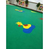 Quality Outdoor EPDM Rubber Granules / Heavy Duty Rubber Playground Matting for sale
