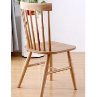 Quality Funky Wooden High Back Dining Chairs , Recliner Contemporary Light Oak Kitchen Chairs for sale