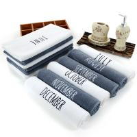 Quality 100% Cotton Embroidery 12 month Towel High Quality White Face Towel Sport Bath hand Towel Bathroom Home Hotel use for sale