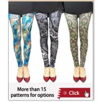 Quality South africa hot sale summer printed pantyhose ,famous artist's legging,OEM tight pants for sale