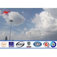 China Windproof Hot Dip Galvanized High Mast Tower , Airport Metal Light Pole on sale