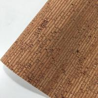 Quality Easy Cleaning Thin Cork Sheet , Patterned Leather Fabric Colorful Tear Resistant for sale