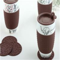 Chocolate color cup cover/ bowl cover for cool boy