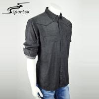 Quality Single Breasted Washed Denim Shirt New Arrival Slim Fashion Size Simple Design for sale