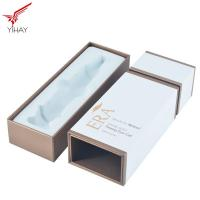 Quality Cosmetics Paper Perfume Packaging Boxes Custom Printing Spot UV Black for sale