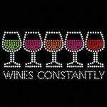 Quality Wines Happy Design Korean Rhinestone Transfer Motif for sale