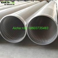 China 8 5/8inch Stainless Steel SS304 Water Well Wire Wrapped Screens Slot 40 on sale