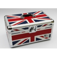 Buy cheap LP 7'' aluminum Union flag carry case DVD storage box portable tool case from wholesalers