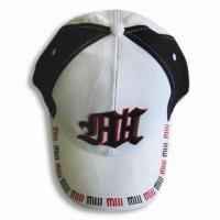 Buy cheap 100% Cotton Sports Cap with Embroidery Design from wholesalers