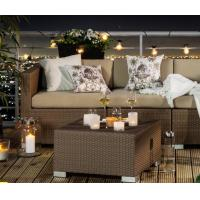 Buy Outdoor garden PE Rattan Sofa sets All weather wicker furniture sofa at wholesale prices