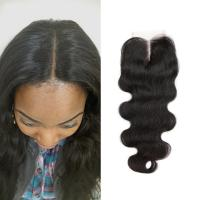 Quality Free Middle 3 Part Lace Top Closure 120% Brazilian Virgin Hair Body Wave Closure for sale