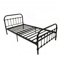 Quality Powder Coating Design Furniture Metal Bed , Rod Iron Single Bed Ultimate Strength for sale