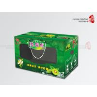 Quality Green Fruit Packaging Corrugated Cardboard Boxes Lamination With PP Rope for sale