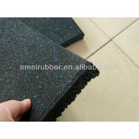 Quality Recycled rubber sports tile/ Gym mat/ gym floor tiles for sale