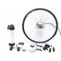 Quality Easy Assemble Electric Bike Conversion Kit Front Aluminum Alloy Stator Silver Motor Wheel for sale