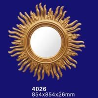 Quality 4026 Round Wall Hanging Bathroom Mirror with PU Frame for sale