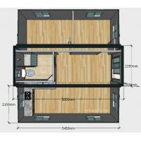 China 20ft Basic Collapsible Container House , Expandable 2 Bedroom Portable Building on sale