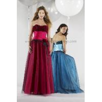 Quality 3D Flowers Bust Ruched Waist a-Line Prom Dress (PD10017) for sale