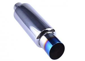 """Quality 3"""" Burnt Tip 2"""" Inlet 14.8"""" Length Tail Universal Exhaust Muffler for sale"""