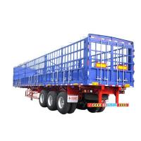 Quality Stainless Steel 3 Axle Cargo Trailer / Skeleton Semi Trailer For Construction Site for sale