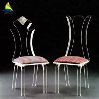 Quality Bedroom Custom Acrylic Furniture Eco - Friendly Clear Transparent Acrylic Chair for sale