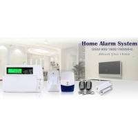 Quality LCD Display Touch Keypad GSM SMS Home Alarm System with 30 wireless zone for sale