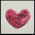Quality Heart shape sequin applique for sale