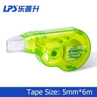 Quality Custom Plastic Green Colored Correction Tape Mini Size 6M For Cover Error for sale