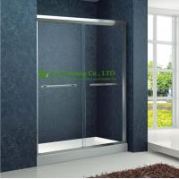 Quality Shower room Double Sliding Aluminium bypass Shower Doors,Tempered Glass Sliding Enclosed Portable simple shower cabin for sale