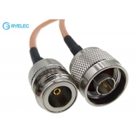 Quality RG142 Double Shielded FEP Jacket RF Coaxial Cable With N Male To N Female Connector for sale