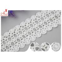 Buy cheap Fancy Water Soluble Lace Trim 9CM With Polyester / Lace Ribbon Trim from wholesalers