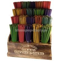 China Fragrance Retail Gondola Shelving Units Wooden Stick Incense Display Stands on sale