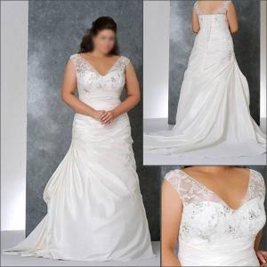China 2010 New Halter Chiffon Plus Size Wedding Dress PL027 on sale